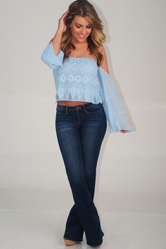 For The Summer Top: Sky Blue - Use the promo code HOLLIREP to get 10% off of EVERY plus get FREE SHIPPING always!