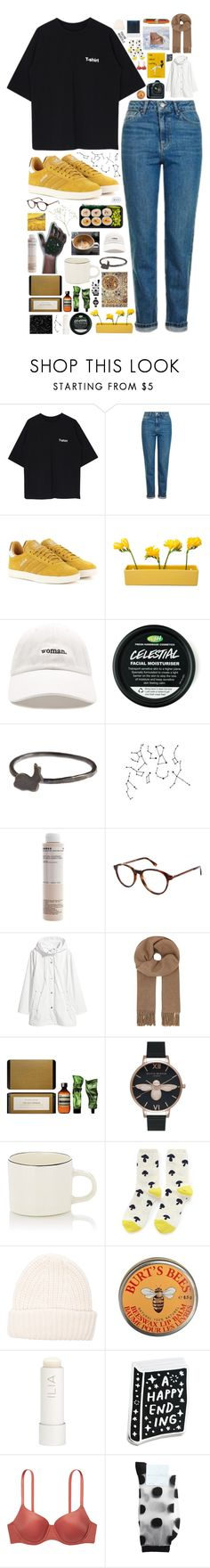 """I GOTTA GET BETTER"" by kappucino ❤ liked on Polyvore featuring Topshop, adidas Originals, Dot & Bo, Forever 21, Korres, Lacoste, H&M, Acne Studios, Eos and Aesop"