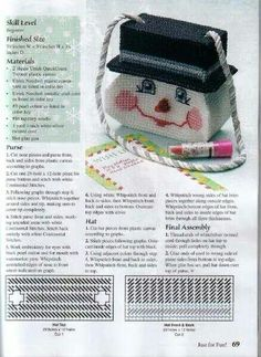 Smiling Snowman Purse - from Let It Snow! in Plastic Canvas - 1 of 2