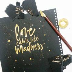 Monday madness #thegoldinitiative Tools: Folded Pen + Finetec Gold + Urban Papier Noir