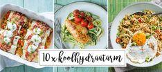 10 x Koolhydraatarme recepten Healthy Snacks, Healthy Recipes, Ramadan Recipes, Skinny Recipes, Superfood, Bon Appetit, Clean Eating, Snack Recipes, Food Porn