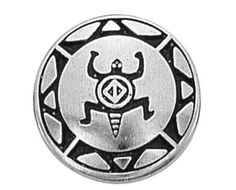 Button 22mm SOUTHWEST TURTLE Pewter Handmade USA by HauteButton, $3.50