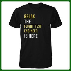 Relax The Flight Test Engineer Is Here. Funny Gift - Unisex Tshirt Black M - Careers professions shirts (*Amazon Partner-Link)