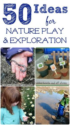 Nature Activities for kids! Outdoor play ideas, nature crafts, STEM and gardening -- how will your kids explore this year?Great Nature Activities for kids! Outdoor play ideas, nature crafts, STEM and gardening -- how will your kids explore this year? Outside Activities, Nature Activities, Outdoor Activities For Kids, Outdoor Learning, Spring Activities, Science Activities, Preschool Activities, Outdoor Play, Outdoor Ideas