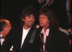Rock n Roll Hall Of Fame George and Mick