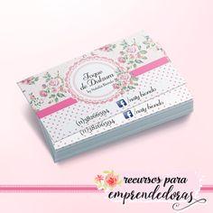 Diseño de tarjeta personal para repostera shabby chic / Recursos para emprendedoras