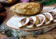 Gotowanie jest łatwe: Filet z kurczaka faszerowany mięsem z grzybami i s...