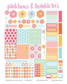 FREE Spring Fling Planner Stickers: Free Printable