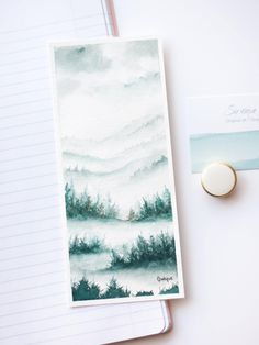 Excited to share the latest addition to my #etsy shop: Watercolor Bookmark, Forest Bookmark, Original Watercolor, Original Bookmark, Gift for a Reader, Book Accessory, Foggy:Landscape, watercolor