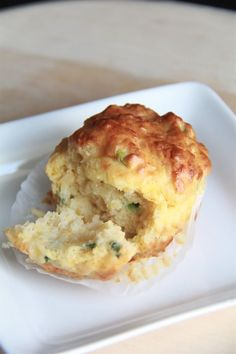 Crumbs and Cookies: savory cheese and chive muffins.