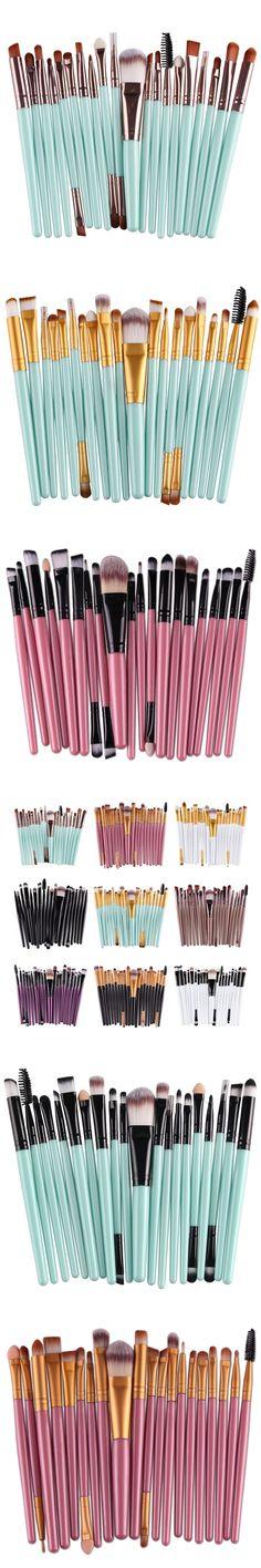 Professional 20 Pcs Eye Shadow Foundation Eyebrow Eyeliner Lip Brush Makeup Brushes Comestic Tool Make Up Eye Brush Set