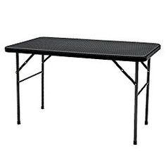 IKAYAA 4FT Folding Camping Picnic Table Portable Outdoor Garden Party BBQ Dining Table
