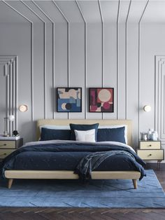 Decor Trends West Elm Has Spoken These 4 Fall Trends Are About To Blow Up Via Mydomaine Bedroom Wall, Master Bedroom, Bedroom Decor, Bedroom Furniture, West Elm Bedroom, Wall Beds, Ikea Furniture, Furniture Layout, Furniture Makeover