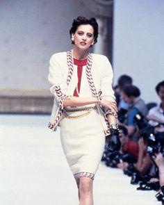 Inès de la Fressange on the runway