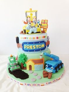 Bob The Builder thank you for looking, Teen Cakes, Cakes For Boys, Boy Cakes, Kid Cupcakes, Cupcake Cookies, Bob The Builder Cake, Digger Birthday Parties, Movie Cakes, Ballerina Cakes