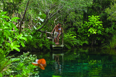 Hidden in Punta Cana are a series of freshwater lagoons where you can swim in peace and seclusion.