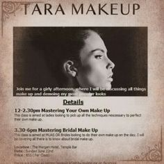 Tara makeup master class morgan hotel Makeup Masters, Master Class, Looking For Women, All Things, Makeup Looks, Girly, How To Make, Lady Like, Girly Girl