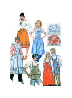 McCalls 8231, Apron Sewing Pattern, Halter Style, Bib Apron, Half Apron, Gathered Waist Apron, Long Apron, BBQ Apron, Mens Cooking Apron by FindCraftyPatterns on Etsy