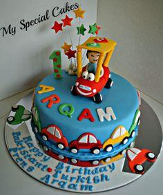 Little Tike Cake Cartoon Cakes, Cake Decorating, Decorating Ideas, 1st Birthdays, Birthday Cake, Desserts, Food, Tailgate Desserts, Birthday Cakes