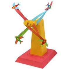 Wind Powered Plane Tower,Toys,Paper Craft,airplane,Educational,amusement park,Wind ,Plane tower,windmill,Moving,airplane  -  http://cp.c-ij.com/en/contents/CNT-0011017/index.html