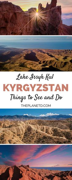 Issyk Kul is the second largest alpine lake in the world. Located in Kyrgyzstan its turquoise waters are surrounded by jagged snowcapped peaks. Travel Photos, Travel Tips, Travel Guides, Cool Countries, Countries Of Asia, Alpine Lake, Travel Activities, Central Asia, Asia Travel