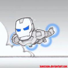 Chibi Iron Man gif by Banzchan Iron Man Armor, Film Genres, Cinemagraph, Comic Books Art, Doodle Art, Smurfs, Chibi, Character Design, Doodles