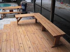deck benches deck benches that look great deck. Black Bedroom Furniture Sets. Home Design Ideas