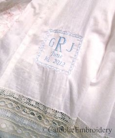 Catholic Embroidery: Project: Heirloom Baptismal Gown