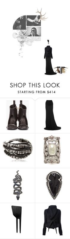 """A little bit eternal"" by jaqenhghar ❤ liked on Polyvore featuring Rick Owens, Lamy, Ann Demeulemeester, Loree Rodkin, Pamela Love, Michele, Antler, icon, RickOwens and muse"