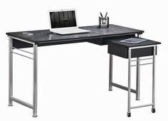 sleek, modern computer desk