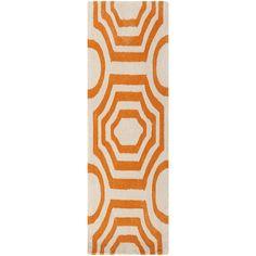 Hand-tufted Angelo Surmelis Lakehills Orange Runner Rug (2'6 x 8') | Overstock.com Shopping - Great Deals on Surya Runner Rugs