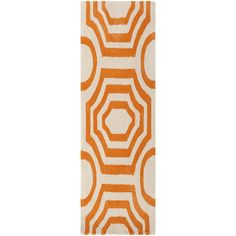 Hand-tufted Angelo Surmelis Lakehills Orange Runner Rug (2'6 x 8') | Overstock.com Shopping - Great Deals on Surya Runner Rugs