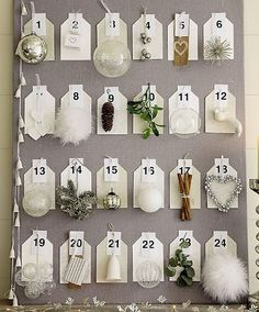 Cute idea for name tags... names instead of numbers. or each guest chooses one ... or something. i love it.