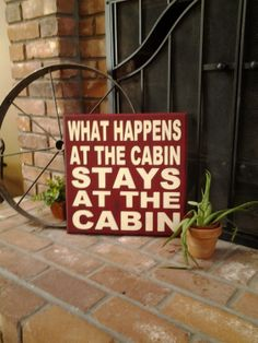 Subway Art Sign Cabin Sign Camping Sign  by SouthPondPrimitives, $34.95