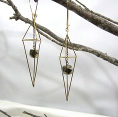 Geometric Earrings Hex Caged