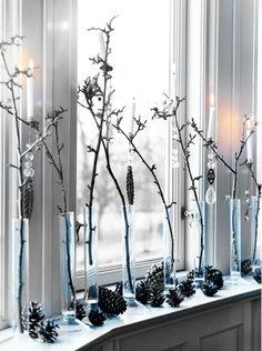 winter window decoration / zimowe dekoracje okna
