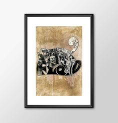 Pink Floyd Band With Logo Art - PRINTED by ShamanAlternative on Etsy