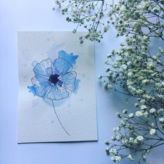 Happy Friday! I hope you are all well and looking forward to the weekend, I sure do! Enjoy this simple blue flower for today 💙 Stay safe and lots of love, Pia x 💕 . . . .  #watercolor #watercolors #watercolorpainting #penandwash #watercolorart #watercolorillustration #watercolorartist #watercolor_art #watercolorsketch #watercolorist #watercolordrawing #watercolor_daily #watercolor_guide #inkandwatercolor #watercolordaily #watercolorflorals #watercolortulips #watercolour #watercolours… Easy Watercolor, Watercolor Drawing, Watercolor Illustration, Floral Watercolor, Watercolor Paintings, Watercolours, Pen And Wash, I Hope You, Happy Friday