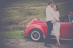 A Red VW Beetle, Retro Inspired Engagement Shoot...