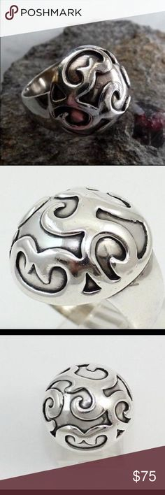 Silpada Sterling Silver Dome Swirl Filigree Ring T1750 Silpada .925 Sterling Silver Dome Swirl Filigree Ring. Silpada Jewelry Rings