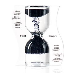 Paradox Reverse Flow Tea Timer in Black: Green tea, black tea, white tea: with the Paradox TEA timer, preparing tea is transformed into an individual moment that makes steeping time fly by thanks to the paradox flow of the granulate – from the bottom up. At home, for a five o'clock tea in a small circle or at the teahouse: the TEA timer is truly eye-catching and makes even the preparation of tea an experience.