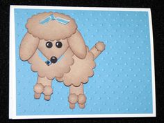 A Little Scrapbook Therapy: Some great punch art cards - Frankenstein and a poodle!