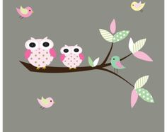 Vinyl Wall Decals Wall Decal withTree with owls por Modernwalls