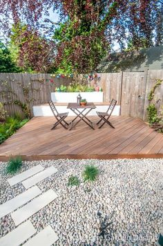 Small Back Garden Design Chatsworth Way London 1