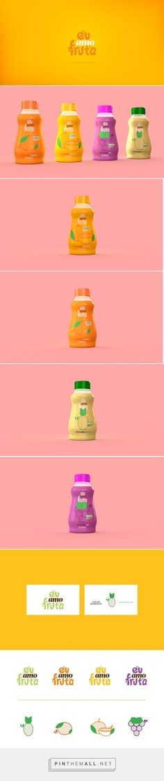 Suco | Eu amo fruta Juice packaging concept by Douglas Oliveira (Brazil) - http://www.packagingoftheworld.com/2016/08/suco-eu-amo-fruta-concept.html