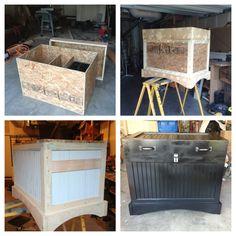 Custom made horse tack box 2 By Dylan M. Diy Storage Trunk, Barn Storage, Tack Locker, Diy Locker, Horse Barns, Horse Tack, Horses, Clothes Horse, Horse Clothing