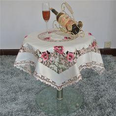 Barato Estilo pastoral europeu bordado floral lace borda toalha de mesa flor vermelha bordada toalha de mesa quadrada 85 x 85 cm tampa de tabela, Compro Qualidade Toalha de mesa diretamente de fornecedores da China:    Início                    Topsy Turvy pimenta plantador (interrompido por ma...       $  14.99  $14.99