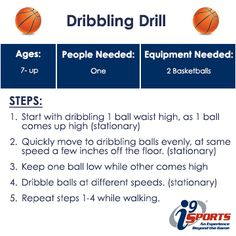 Only need a couple basketballs for this dribbling drill! #basketball #youthsports