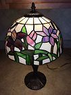 "For Sale - Tiffany Style 19"" Stained Glass Table Lamp"
