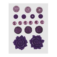 Z1895 -- Base & Bling Purple Jewels -- $5.95. 2 – 22mm resin flowers 3 – 12mm acrylic flowers 6 – 6mm sparkles 4 – 7mm enamel gems 3 – 10mm glitter gems SHOP: www.keeleyskreations.ctmh.com